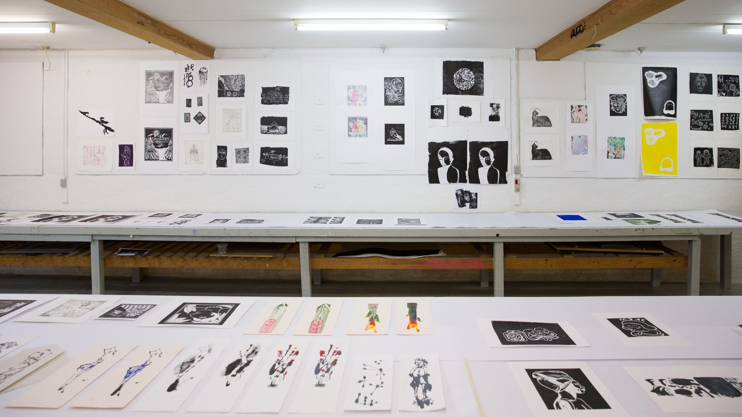 Grafik på Kunsthøjskolen