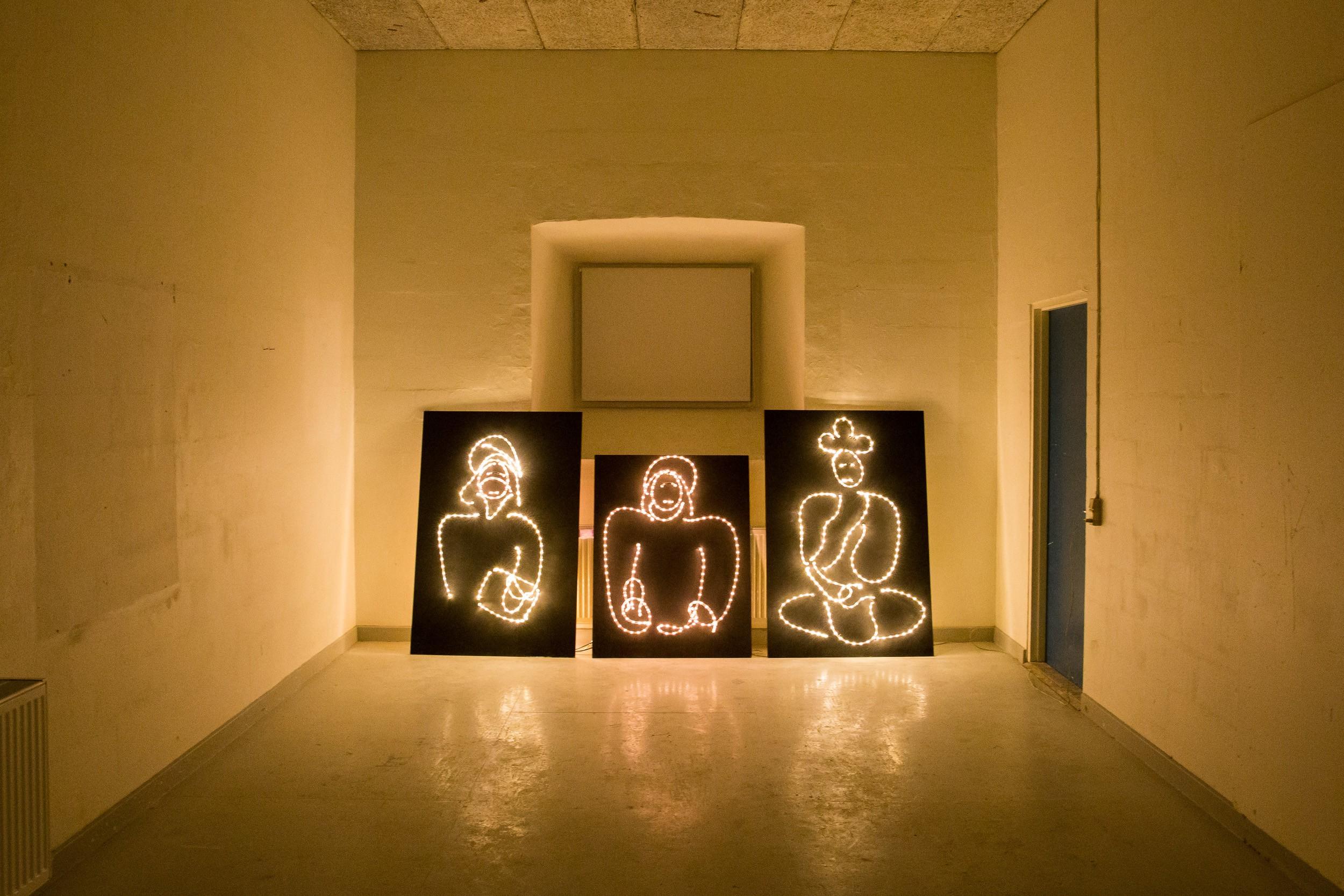 Installation på Kunsthøjskolen