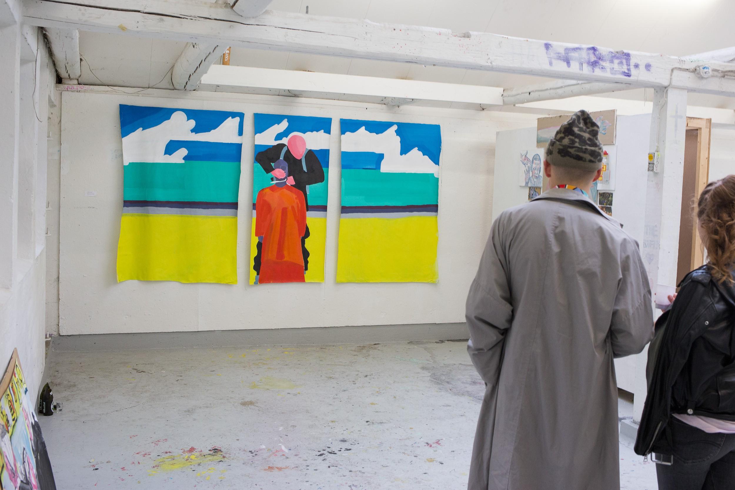 Maleri på Kunsthøjskolen 2014