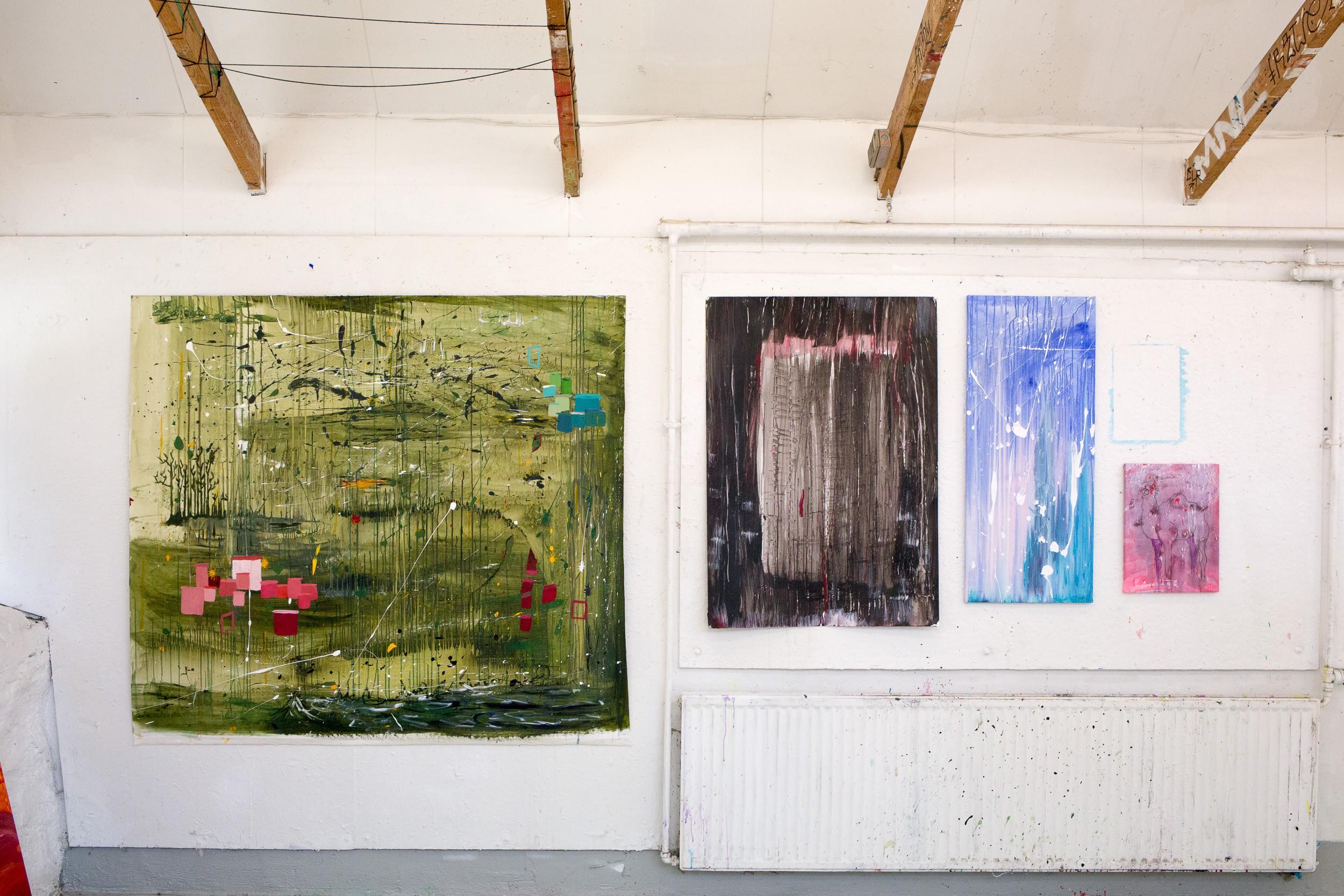 Maleri på Kunsthøjskole forår 2015