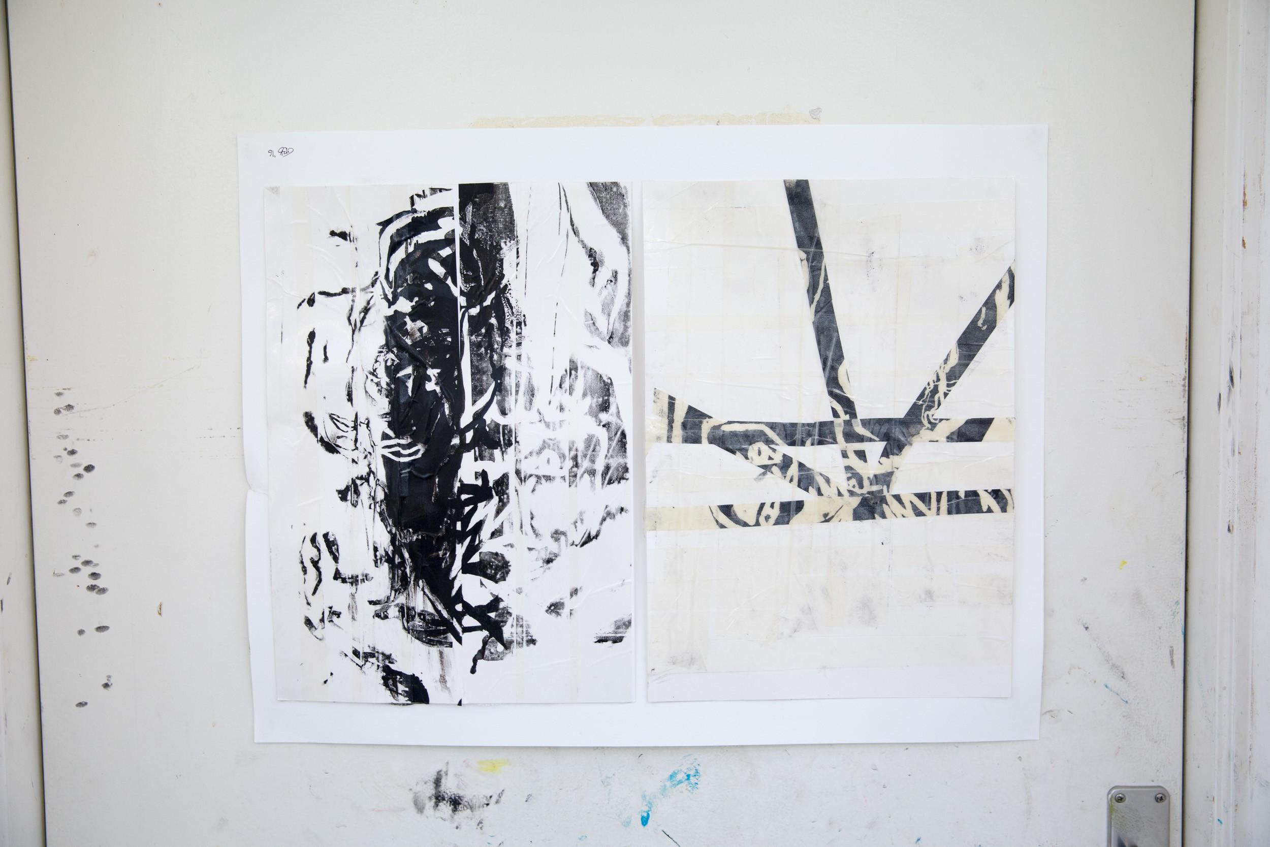 Serigrafi på Kunsthøjskolen