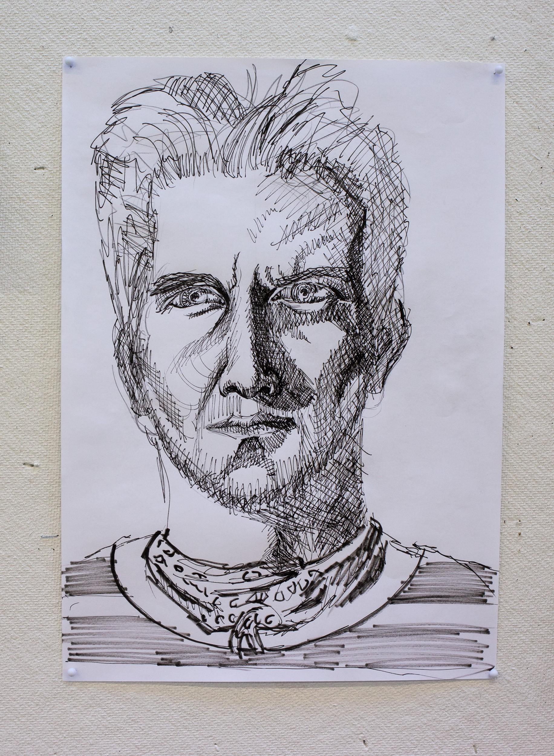 Selvportræt opgave: Tegning / Maleri
