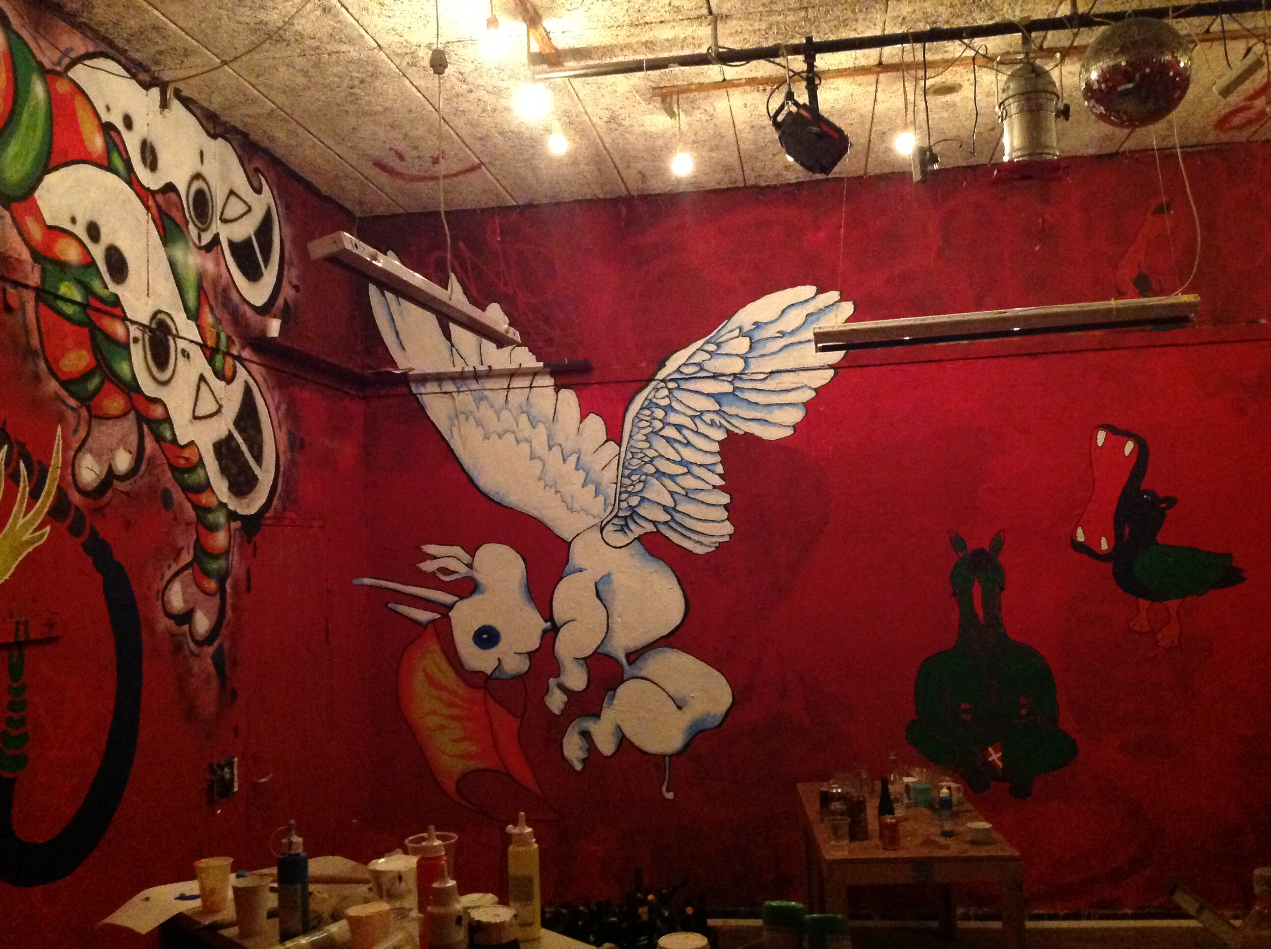 Maleri projekt i Kunsthøjskolen cafe