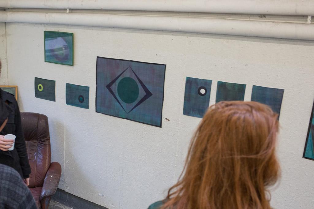 Maleri udstilling på Kunsthøjskolen
