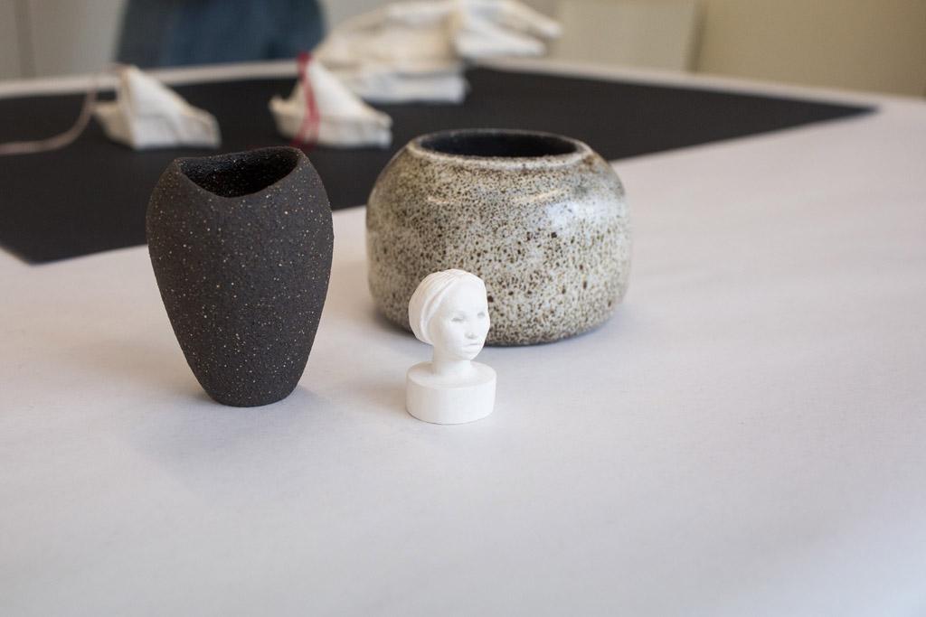 Keramik udstilling på Kunsthøjskolen