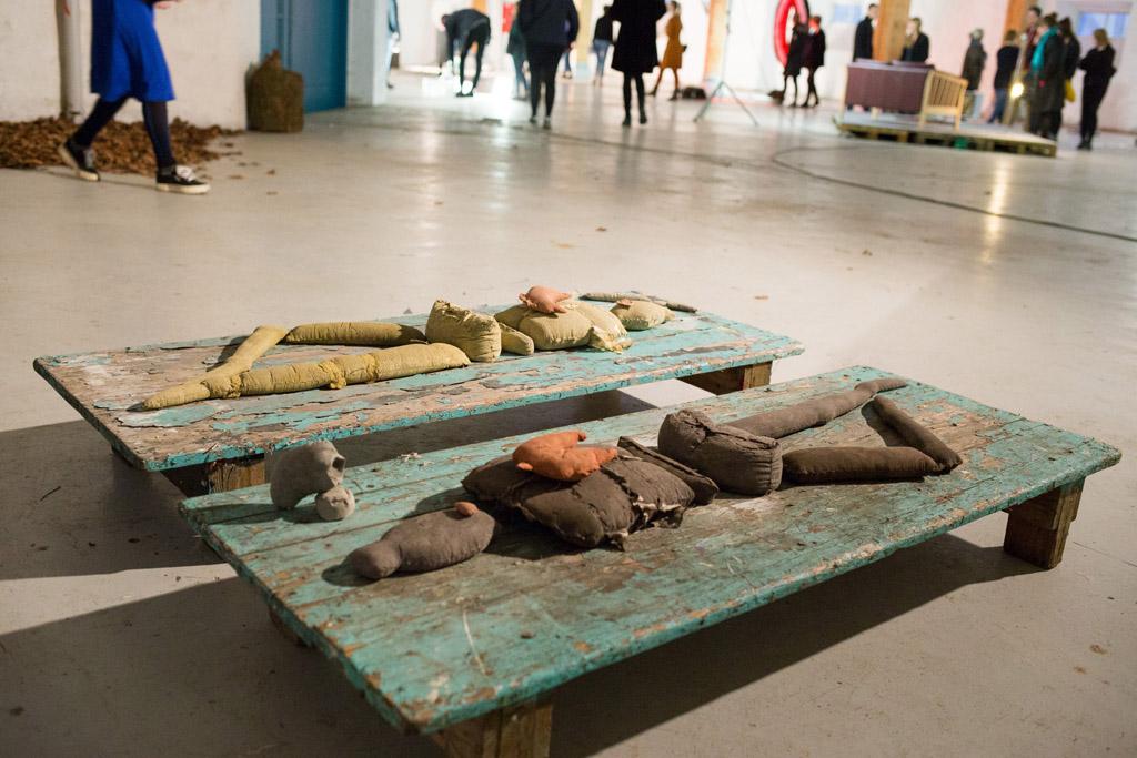 Skulptur udstilling på Kunsthøjskolen