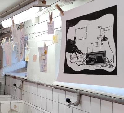 Grafik udstilling 1. periode efteråret 2020 Kunsthøjskolen i Holbæk