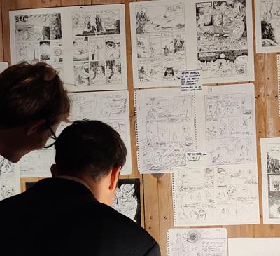 Tegneserie udstilling 1. periode efteråret 2020 Kunsthøjskolen i Holbæk