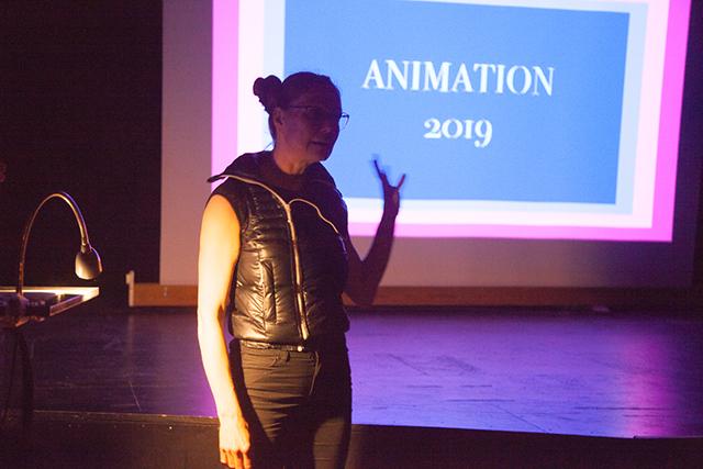 Sara Koppel – underviser ved værkstedet for animation foråret 2019 på Kunsthøjskolen i Holbæk