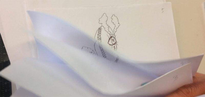 Animation foråret 2019 med Sara Koppel, Kunsthøjskolen I Holbæk, håndtegnet animation