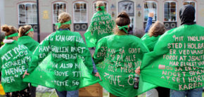 Green Satellite PARKing Day Kunst i byrummet