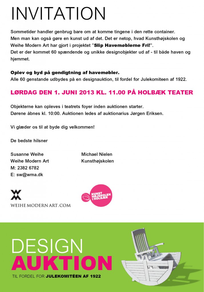 Design Auktion - Invitation