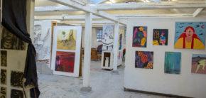 Første Maleri Udstilling Kunsthøjskolen i Holbæk, forår 2019