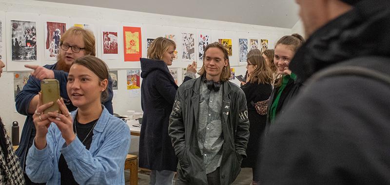 Forskyder Erindring i ord og tryk Serigrafi på Kunsthøjskolen i Holbæk foråret 2019