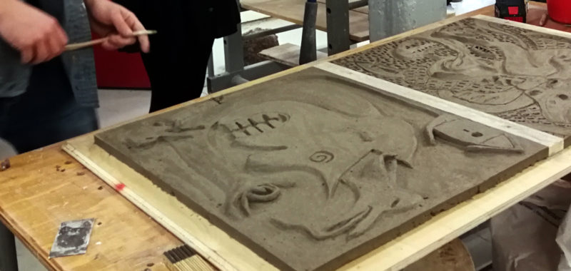 Keramik i process Kunsthøjskolen 2018, kvæstning og keramisk beton