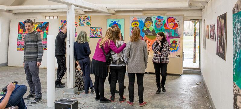 Udstilling på Kunsthøjskolen - Maleri
