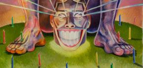 Maleri udstilling Kunsthøjskolen i Holbæk efteråret 2019 Chanin Intoora Mafia