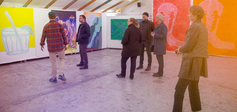 Udstilling 2 periode af efteråret 2019 Maleri Tegneserie Lydkunst Videokunst grafisk Design Arkitektur Kunsthøjskolen i Holbæk Plads til Kunst