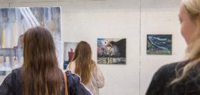 Maleri udstilling 1. periode efteråret 2019 Kunsthøjskolen i Holbæk