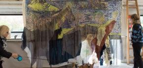 Maleri 3. periode udstilling forår 2019 Kunsthøjskolen I Holbæk