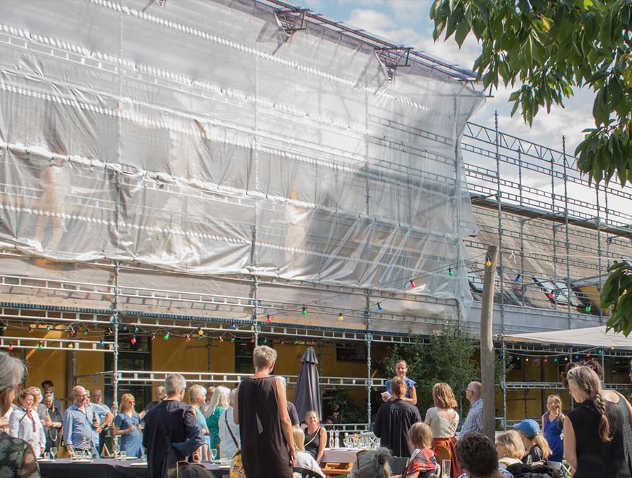 Sommerkursisterne ved sommerens kurser 2019 har toléreret det omfattende renovationsarbejde