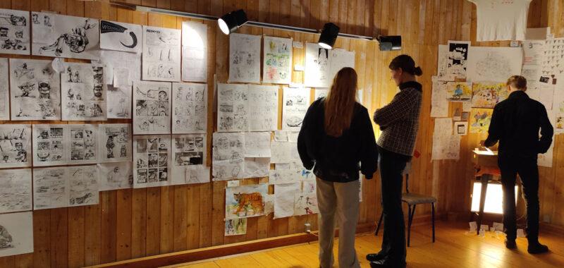 Tegneserie Udstilling efterået 2020 Kunstøjskolen I Holbæk