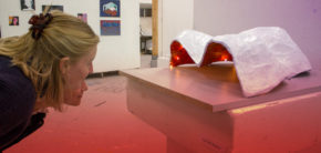 arkitektur udstilling på Kunsthøjskolen i Holbæk efteråret 2019